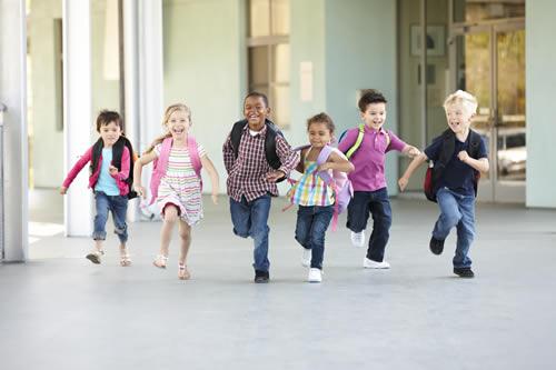 la vuelta al colegio de los niños